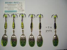 Original Mepps Spinner Aglia Brite Gr.5 silber/gelb 5+1gratis ( 6 Stück )