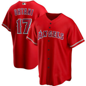 Men's Shohei Ohtani Red Los Angeles Angels Player Jersey