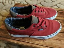 Vans Summer Burgundy Canvas Trainers Casual Shoes UK Size 4.5 EUR 37 Unisex