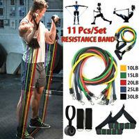11Pcs Resistance Bands Set Exercise Fitness Training Tube Workout Bands Yoga