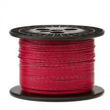 "28 AWG Gauge Stranded Hook Up Wire Red 1000 ft 0.0126"" PTFE 600 Volts"
