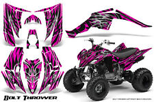 YAMAHA RAPTOR 350 GRAPHICS KIT CREATORX DECALS STICKERS BOLT THROWER PINK