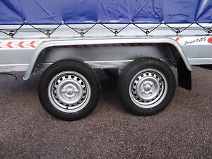 NEW Trailer Box Small Camping Car 9FT x 4FT TWIN AXLE 2,70 x 1,32 m +150cm COVER
