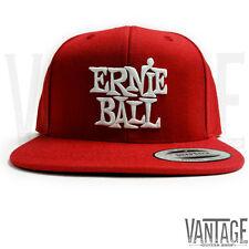 Ernie Ball Classic Logo Snapback Hat - Red Cap & White Logo