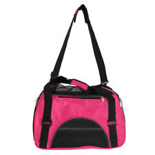 Portable Pet Handbag Breathable Waterproof Dog Cat Travel Carry Bags Rose Red S