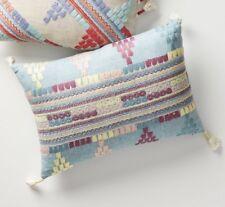 Anthropologie Tasseled Salima Throw Pillow Rectangle Accent Pastel Tassels