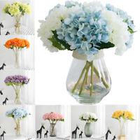 Artificial Fake Silk Flowers Peony Home Wedding Bridal Bouquet Hydrangea Decor r