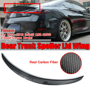 Real Carbon Fiber Trunk Spoiler P Style For Infiniti Q60 Q60S Coupe 2018-2019