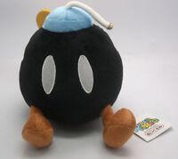 Super Mario Bros Black BOMB BOB-OMB Bomb Plush Doll Soft Stuffed Toy 7 inch Gift