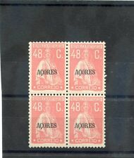 AZORES Sc 205(SG 408)**F-VF NH 1931 48c DULL PINK, BLOCK OF FOUR, $90