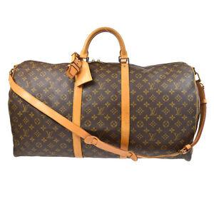 LOUIS VUITTON KEEPALL 60 BANDOULIERE 2WAY TRAVEL BAG PURSE M41412 VI0920 72273