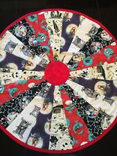 """Nightmare Before Christmas Table Topper Handcrafted 23"""" Round Handmade Quilted"""