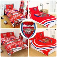 Arsenal FC England Football Duvet Cover Bedding Set Single Double Kids Adults