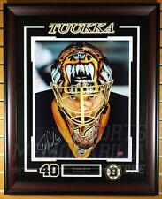 Tuukka Rask Boston Bruins Signed Autographed Up Close Mask 16x20 Framed