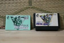 METAL GEAR w/manual NES Famicom Japan Nintendo Konami Very Good+ Condition!