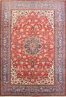 Antique Old Palace Size Vegetable Dye 11x16 Wool Najafabad Oriental Rug