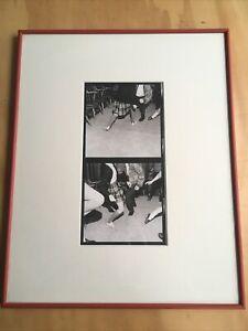 Framed 16 x 20 B/W Silver Gelatin Print VTG Photo Sigma Chi Dance Chicago 60's