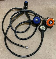 Used Oceanic Alpha SW Scuba Diving Regulator Set Hoses, PSI Gauge etc