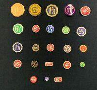 Vintage Retro Pre-Decimal Shop Price Labels Tickets Tags, 1930s - 1940s, RF1