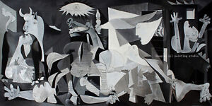 Prints+handpaint painting Pablo Picasso Guernica,1937 for home wall art Decor