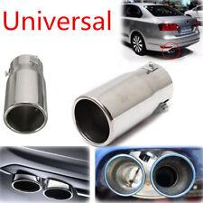 Universal DIY Car Chrome Flat Exhaust Pipe Tip Muffler Stainless Steel Tail Tube