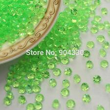 1000pcs x 4.5 mm VERDE wedding Tavolo Spargere Acrilico Cristalli Decorazione Diamante
