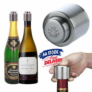 Stainless Steel Sealer Fresh Vacuum Sealer Champagne/Red Wine Bottle Stopper