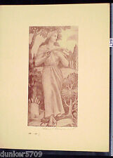 SEPIA PRINT CLIO BY AURIEL BESSEMER 7 1/2 X 3 3/4 INCHES #47