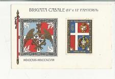 antica cartolina militare  brigata casale 11 e 12 fanteria MDCCXIII MDCCXCVIII