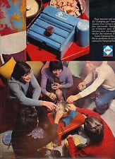 PUBLICITE  1970   CAMPING GAZ    la célèbre petite bouteille bleue