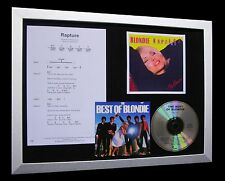 BLONDIE Rapture LIMTED TOP QUALITY CD FRAMED DISPLAY+EXPRESS GLOBAL SHIP!!