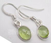 """925 Sterling Silver Real PERIDOT Dangle Earrings 1"""""""