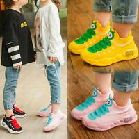 Cute Infant Kids Baby Girl Boy Stretch Mesh Shoes Cartoon Sport Running Sneakers
