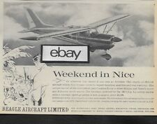 Beagle Aircraft Ltd U.K. Airedale Weekend In Nice,France 1962 Ad