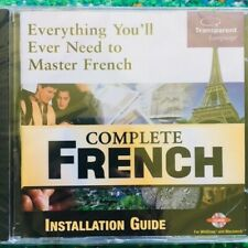 Complete French by Transparent Language Software - Windows PC or Mac CD-ROM NEW!