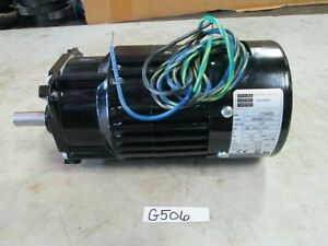 Bodine Gearmotor Type: 34R4BFCI-Z2 115V 1/15 HP Ratio: 6:1 RPM: 283 (New)