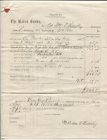 CIVIL WAR DOCUMENTS, 148TH, N.Y. DISCHARGE PAPERS AND PAY VOUCHER, 1865.