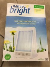 NatureBright SunTouch Plus Ion Therapy Lamp White Sky Effect Light With Timer