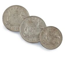1928-1942 Australia 3 Pence & 6 Pence Silver Coin Lot of 3