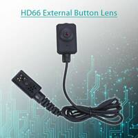 HD66 External Button Lens Plug and Play 46dB for Body Worn Camera Black Pocket
