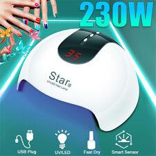 230W LED Nail Dryer UV Lamp Light Gel Nail Polish Tool Fast Curing Timer Sensor
