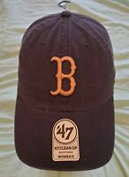 BOSTON RED SOX - NEW Metallic - 47brand Navy Adjustable - hat cap NWT