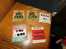 Christmas Bells Lot on Original Cards Usa Japan Woolworths Criterion Vintage