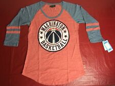 NBA Washington Wizards Adult Women Tri Blend Jersey 3/4 sleeve M Medium Red