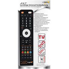 Heitech 4-in-1 Lernfähige Universal-Fernbedienung - schwarz TV DVD-Player etc.