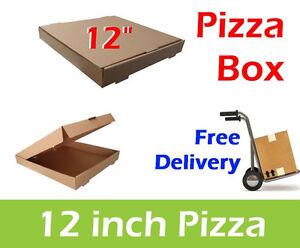 """100 Plain Brown Pizza Boxes 12"""" Inch Pizza Box, Takeaway Box, Postal Boxes"""