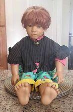 "Vtg 1990 Himstedt autographed ""Janka"" Doll by Puppen Kinder C.O.A.,box by Mattel"