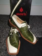 Mauri Italy Two Tone Matching Alligator Crocodile Belt & Formal Dress Shoe 10 M