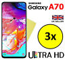 3x HQ CRYSTAL CLEAR HD SCREEN PROTECTOR COVER GUARD FOR SAMSUNG GALAXY A70