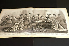 Victorian Fashions LADIES BALL and EVENING DRESSES Piano Player 1872 Large Print
